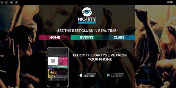 Nueva aplicación para móvil, branding the nightfy.com